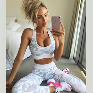 Womens Tracksuit Women Two Piece Outfits Designer Women Camouflag Fitness Clothing Suit Two Piece Sportswear Pants Skinny Mesh Tracksuit