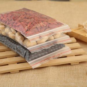 Fındık Torba Çanta Seal 100 Adet Şeffaf Plastik Şeker Poşet Plastik Dayanıklı Depolama Kendinden yapışkanlı Paketi