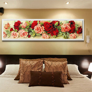 5D Rose Wall Алмазные вышивки Картина DIY Rhinestone Вышивка крестом Craft Kit Home Decor Rose Pattern