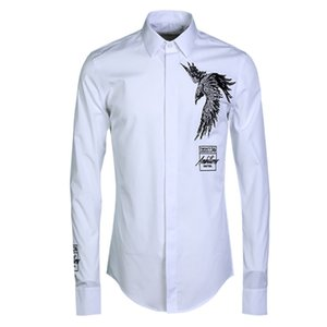 men Shirt Classic Eagles Embroider Pattern Male Style Shirt Trend Man Shirtz