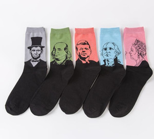 Wholesale personality men's cotton socks couple student socks character avatar in tube socks manufacturers custom made free shipping