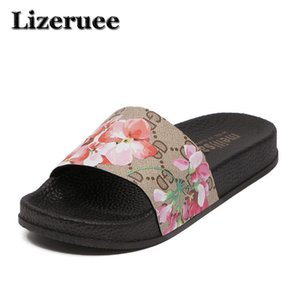 2018 New  Design Sandals Women Slippers Summer Flats Bottom Peep Toes tiger head ladies Shoes zapatos mujer ME158