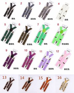 31 Renkler Çocuklar Suspenders Smooth Toka Elastik Y Askılar Bebek Boys Kız Braketler Kayışlar Ayarlanabilir Renkli HHA832