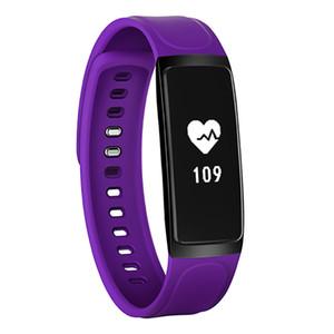 C7S Bracelet intelligent Fitness Tracker Blood Pressure Moniteur de fréquence cardiaque intelligent montre étanche Passometer intelligent pour iPhone Android Wristwatch
