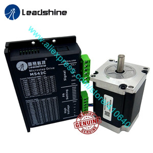 Genuine Leadshine NEMA23 Stepper Motor 57CM23 8 mm Shaft 2.3 N.M Torque and 2 Phase Analog Stepper Driver M542C Max 50 VDC 4.2A