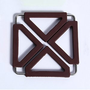 Asma Çanak Pad Masa Mat Yaratıcı Kaymaz Coaster Pad Şeker Renk Çok Fonksiyonlu Isı Yalıtımı Pad Silikon Placemats M.Ö. BH1047
