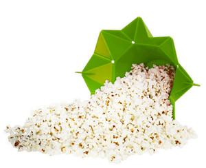 100PCS Silicone Popcorn Bucket Popcorn Maker Storage Container Foldable Microwave pop corn box Kitchen Bakingwares DIY Popcorn Bucket