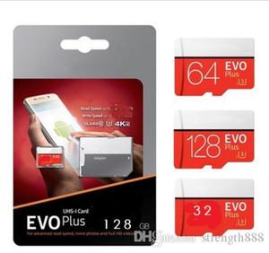 1백28기가바이트 64기가바이트 32기가바이트 블랙 VS 화이트 EVO PLUS EVO + 마이크로 SD TF 플래시 카드 90메가바이트 / s의 80메가바이트은 / 고속 클래스 10을이야