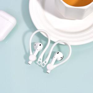 Anti-perte anti-goutte Crochet oreille Bracelet en silicone pour Apple iPhone AirPod Housse de protection Oreillette Bluetooth sans fil Accessoires Sport écouteurs