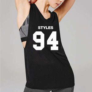 여자 민소매 T 셔츠 여름 GYM Streetwear 편지 인쇄 조끼 탱크 탑 숙녀 Jogger 연약한 대원 목 Tshirts