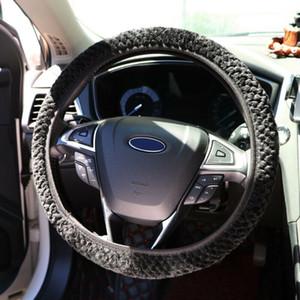 Acessórios Car Lã Plush Auto Car cobertura de volante para o inverno 36-38CM