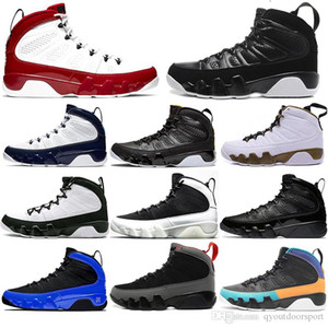 Nike AIR Jordan 9 neue AirJordanRetro Herren-Basketball-Schuh-9s Jumpman Gym Red Charcoal Cool Gray 9 UNC Countdown Trainer Designer-Turnschuhe