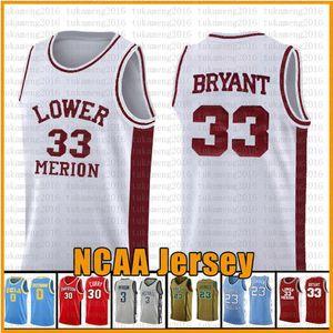 33 Aşağı Merion NCAA Basketbol Jersey College formaları sizle s-xxl mens