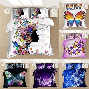 Borboleta 3D jogo de cama edredom queen size borboleta menina com set fronha colcha de cama de solteiro cama de têxteis-lar