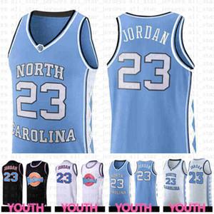 белый Университета штата Северная Каролина 23 Michael JD Youth Kids Mens Basketball Джерси NCAA Tune Состав Space 23 трикотажных изделий
