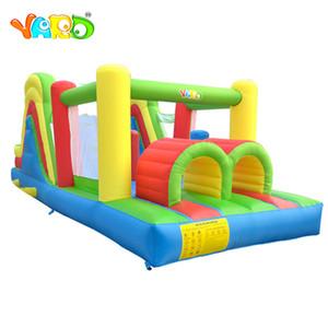 Patio trasero al aire libre de nylon inflable de salto de obstáculos casa de la despedida del juego