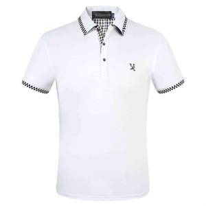 20120 Luxus European Paris Patchwork Herren T-Shirt Mode Herren Designer T-Shirt Lässige Herrenbekleidung Medusa Baumwolle T-Shirt Polo 39