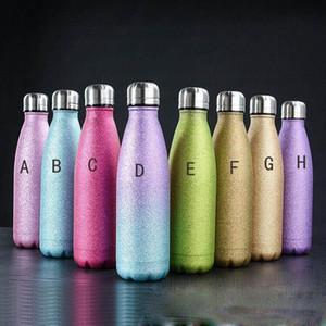 продажа 17oz бутылка горячего блестки воды двустенных Изолированный Cola Бутылки блестеть тумблер BPA Free Металл Спорт бутылки Красивые Sparkle покрытие