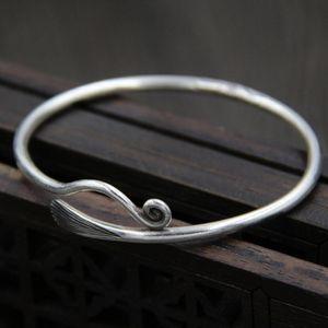 Schmuck S999 Sterling Silber Armbänder öffnen einfache Armbänder für Frauen klassische heiße Art und Weise frei von Versand