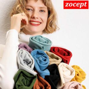 zocept 2019 겨울 패션 여성 솔리드 터틀넥 스웨터 여성 긴 소매 숙녀 점퍼 고품질 세련된 우아한 pullovers
