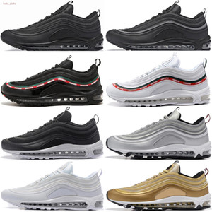 New OG Gold Silver men running shoes women training sports Fashion black white red 2018 wholesale size 36-45