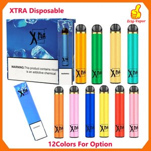 Os mais recentes Xtra descartável Xtia Dispositivo Pod Kit 1500 Puffs pré-cheia 5ml Cartucho Powerful Battery Vape Pen VS POP Puff Bar XTRA POSH PLUS