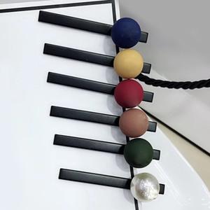 6X0.5CM couleur de confiserie givré mignon style C pince de presse dames européennes et américaines populaires un mot accessoire de tête de clip latéral clip