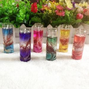 Aromaterapia transparente jalea velas océano conchas jalea aceite esencial boda velas perfumadas velas fiesta boda decoración XD23358