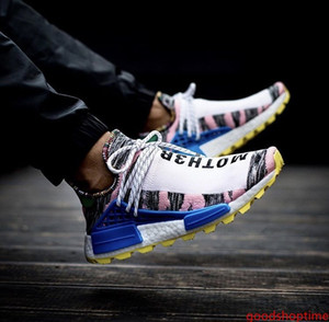 2019 New Human Race X HU HUMAN RACE SPIECES Men Sports Shoes Pharell Williams Women Best Quality Trainer Footwear Sneakers 36-45