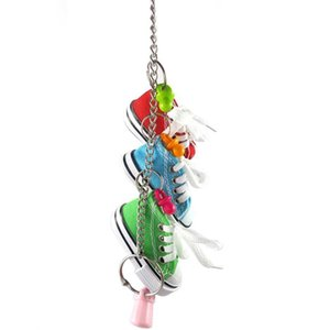 Parrot Games Toys for Birds Mini Canvas Shoes Chew Bite Decoration Hanging Cage Funny Parrot Craft