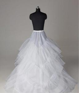 Günstige Hochzeit Petticoats Schichten Tüll Krinoline für Kleider Ballkleid Brautkleider Free Size Brautkleider Matched Unterrock
