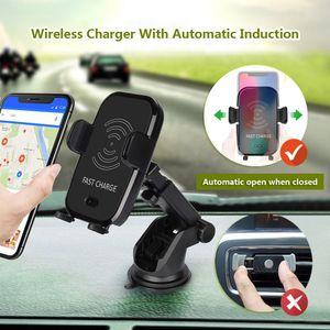 10W 무선 자동차 충전기 자동 적외선 센서 치 무선 S9 S9 플러스 S8에 대한 빠른 충전기 마운트