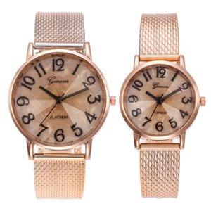 PVC plastic belts geneva simple numbers lovers couple women mens unisex dress sport quartz wrist fashion watches