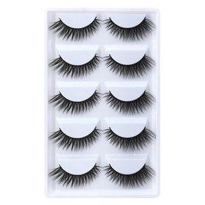 5pairs set False EyeLashes 5 Pairs 3D Natural Long Fake Eyelashes G809 Handmade Makeup Tools Accessories 100pcs with dhl free shipping