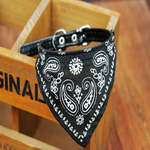 2016 Details about Adjustable Cute Pet Dog Cat Neck Scarf Bandana with Leather Collar Neckerchief WS486 5 Adjustable Cute Pet Dog Cat Neck A