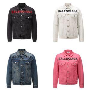 Hochwertiges Original Modebalenx Denim Kollektion Jeans Jacken Hip Hop zerrissene Designer Mäntel langärmelige Jacke Bekleidung