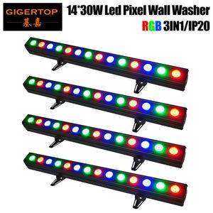 Заводские продажи 4 Pack 14x30w Building Wall Washer Light Dmx лампа индивидуальное управление плавное изменение цвета Линейная дискотека Dj Club