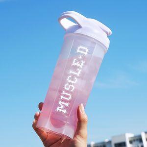 Creative Protein Powder Shake Bottle Mixing Bottle Sports Fitness Kettle Protein Shaker Sports Water Bottle for Hiking