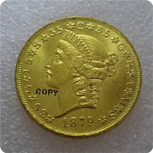 COPY REPLICA 1876,1879 20 $ (vingt dollars) pièce d'or Patterns COPY