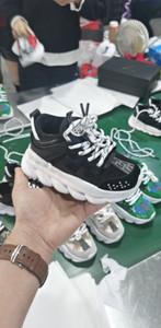 Versace 2020 Дети Кроссовки тройной черный новорожденных кроссовки Радуга Дети спортивная обувь девочек и мальчиков высокого качества теннисных кроссовок