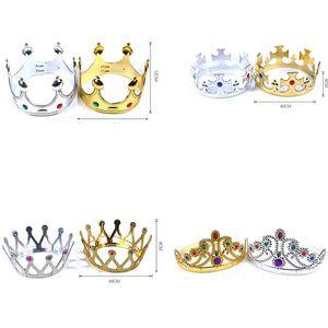 Bebê Crianças Coroa Headwear Menina Festa de Aniversário Tiaras Decorações Menino Príncipe Princesa Coroas Chapéu Headwear Cosplay Suprimentos