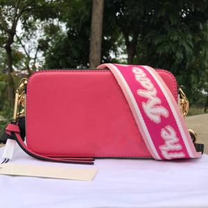 bolsa de cuero real de la correa de hombro de 2020 mujeres del bolso ancho con pequeños bolsos monederos bolsa cuadrada de las mujeres del diseñador de moda bolsa