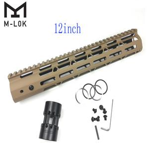 12 인치 M-Lok 핸드 가드 라이트 디자인 AR15 (.223 / 5.56) 탄 색상 스틸 배럴 너트