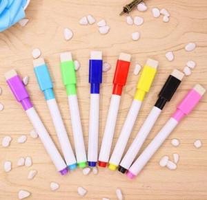 nueva pluma magnética Pizarra Pizarra marcador de borrado en seco marcadores del tablero blanco del imán Plumas construido en el borrador de la escuela para oficina 4 colores de tinta