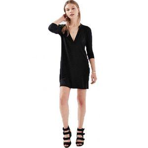 2018 delle ragazze delle donne di nuovo modo solido casuale lunghe T-shirt estiva breve-Sleeve V-Neck Oversize allentati T-shirt in chiffon Tops Hot