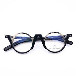 Belight optique Fantaisie Rétro acétate Mini forme ronde colorée monture de lunettes design acétate lentille precription de HP212