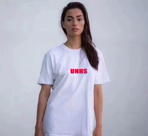 hot sale HOT! UNHS 20th classic red OG all black BOGO Tee Street Skateboard Men women Fashion Short Sleeved Casual Outdoor Printed T-shirts