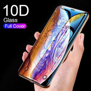 Curved Edge Protective Tempered Glass For iPhone SE 2020 7 8 6 6S Plus X XR XS 11 Pro Max Full Cover Screen Protector Glass Film