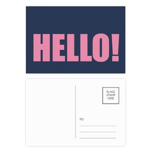 Hello Quote Black Encourage Positive Postcard Set Birthday Thanks Card Mailing Side 20pcs
