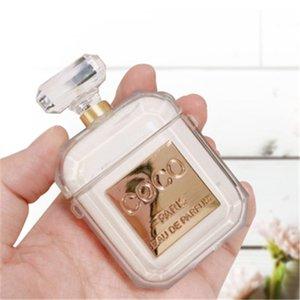 Adecuado para AirPods 1/2 protección shell auriculares Bluetooth inalámbricos, botella de perfume anti caída coco 2 colores